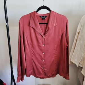 "Vintage Silk ""Oversized"" Blouse"